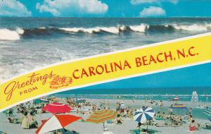 CAROLINA BEACH , North Carolina , 50-60s ; Beach & Waves