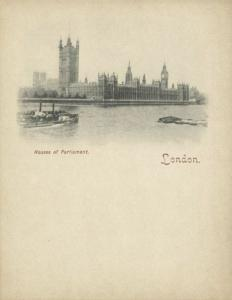 london, Houses of Parliament (1899) Court Card