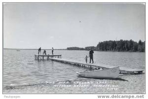 RPPC of The Pier Keeler's Lake Metonga Resort Crandon, Wisconsin, WI, Kodak