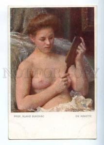 226759 NUDE Belle Girl w/ MIRROR by Vlaho BUKOVAC Vintage PC