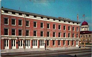 Springfield IL Lincoln Herndon Building Postcard unused (21325)