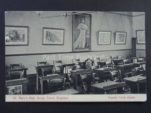 Sussex BRIGHTON Kemp Town ST. MARY'S HALL 4th Form Room c1905 Postcard by P.T.A.