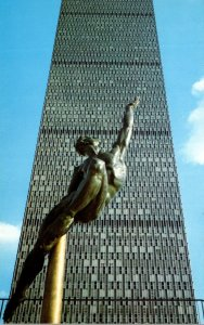Massachusetts Boston Quest Eternal Sculpture By Donald DeLue At Prudential Ce...