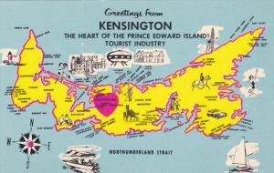 Map , P.E.I.. , Canada , 40-60s