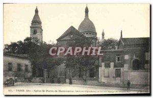 Postcard Old Paris Church St Pierre de Montmartre