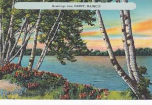 Illinois Greetings From Casey 1952