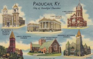 PADUCAH , Kentucky , 1930-40s; City of Beautiful Churches, 6-views