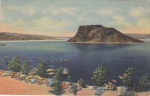 Boat Landing And Bathing Beach, Elephant Butte Lake, HOT SPRINGS, New Mexico,...