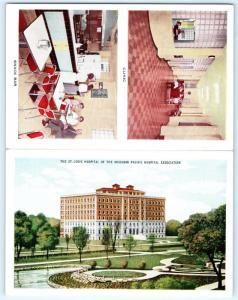 Postcard MO St Louis Hospital Folding Multiview Snack Bar Clinic L13