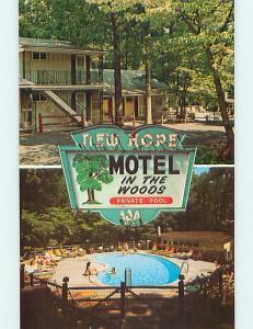 Unused Pre-1980 NEW HOPE MOTEL near Lambertville Pennsylvania PA s5305@