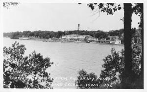 Lake Okoboji Iowa~Fun House~Roof Garden~Amusement Park~Roller Coaster RPPC c1927