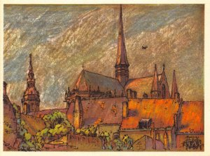Belgium Furnes Les Deux Clochers Church Towers Postcard