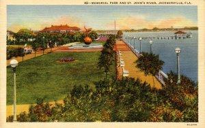 FL - Jacksonville. Memorial Park and St John's River