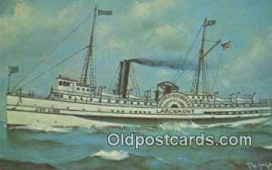 Joy Line Larchmont, Providence, Rhode Island, RI USA Steam Ship Postcard Post...