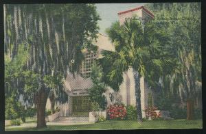 FL Fort Lauderdale Florida First Presbyterian Church Vintage Linen Postcard