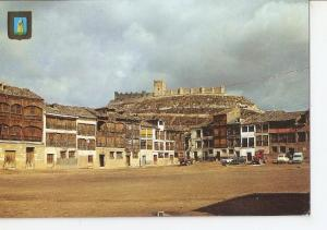 Postal 049633 : Pe?fiel (Valladolid). Plaza de Toros y Castillo al fondo