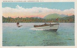 Motor Boating at SCHROON LAKE, Adirondack Mts., New York, 1910-20s
