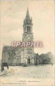 Old Postcard Alencon Church Montsort