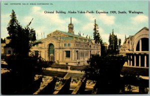 1909 AYPE EXPO Seattle World's Fair Postcard ORIENTAL BUILDING View Unused