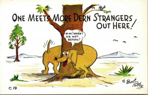 Vintage Lot of  4 Bob Petley Laff Gram Cards DOG RISQUE Indian Comic Postcards