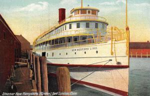 New London Connecticut New Hampshire Steamer Ship Antique Postcard K26022