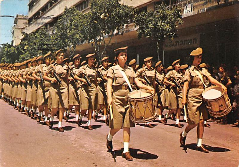 Girl Soldiers on the March -