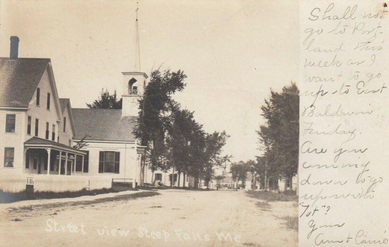 RP; STEEP FALLS  , Maine , 1906 ; Main Street