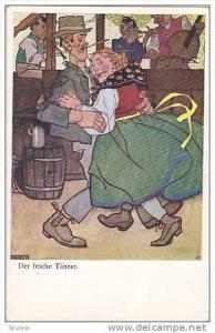 AS; Couple dancing, Der fesche Tanzer, 10-20s