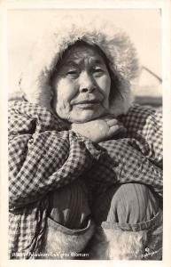 D91/ Native American Indian Real Photo RPPC Postcard 1950s Alaska Eskimo Woman16
