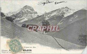 Old Postcard on Gryon Bex