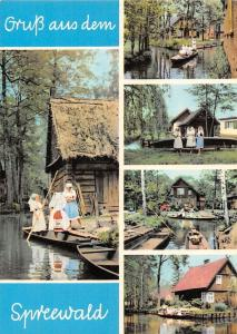 Spreewald Blota multiviews Schiff Boats Folklore Traditional Costumes Houses
