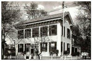 Lincoln's Home Springfield IL Postcard RPPC