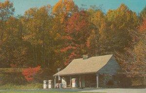 BLUE RIDGE MOUNTAINS, Virginia, PU-1974; Beautiful Service Station