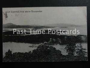 c1914 - Loch Lomond from above Rossanden - showing Steam Ferry on Loch