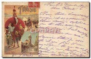 Old Postcard Camel Train Tunisia Hugo d & # 39Alesie