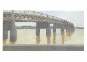 Postcard THE TAY RAILWAY BRIDGE Dundee Scotland by Tarka Kings MU2651 #46