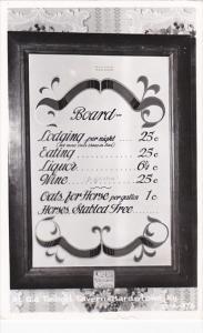 Sign At Old Talbott Tavern Bardstown Kentucky 1962 Real Photo
