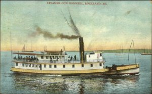 Rockland ME Ferry Steamer Boat Governor Bodwell 1908 Used Postcard