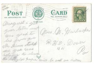 York PA Hotel Penn Vintage 1913 Postcard