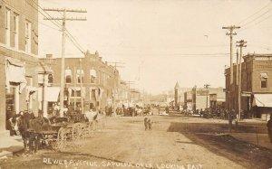 Sapulpa~Millinery~Book Store~Max Meyer~Sutton's~Dirt Dewey Ave~Buggies~RPPC 1911