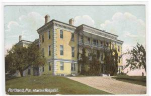 Marine Hospital Portland Maine 1910 postcard