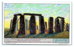 1931 Stonehenge, UK, Prehistoric Monuments, Liebig Belgian Trade Card *VT32A
