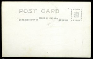 3346 - LAC DES LOUPS Quebec 1940s O'Connell Lodge Canoe. Real Photo Postcard