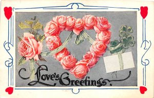 Antique Valentines Day Postcard Writing on back