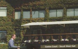 Wimbledon Centre Court South West Hall Sign Tennis Boston Ivy Postcard