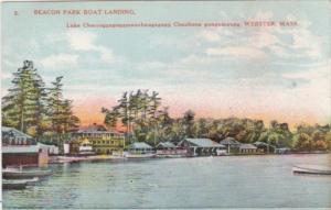 Massachusetts Webster Beacon Park Boat Landing Lake Chargoggagoggmanchaugagog...