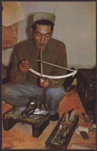 Little Diomede Eskimo,Ivory Carver Postcard