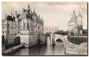 Old Postcard Chateau De Chenonceaux Le Pont Levis