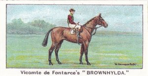 Brownhylda Winners On The Turf 1923 The Oaks Horse Racing Cigarette Card