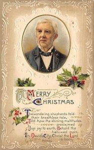 Christmas Post Card Old Vintage Antique Xmas Postcard Holmes 1913